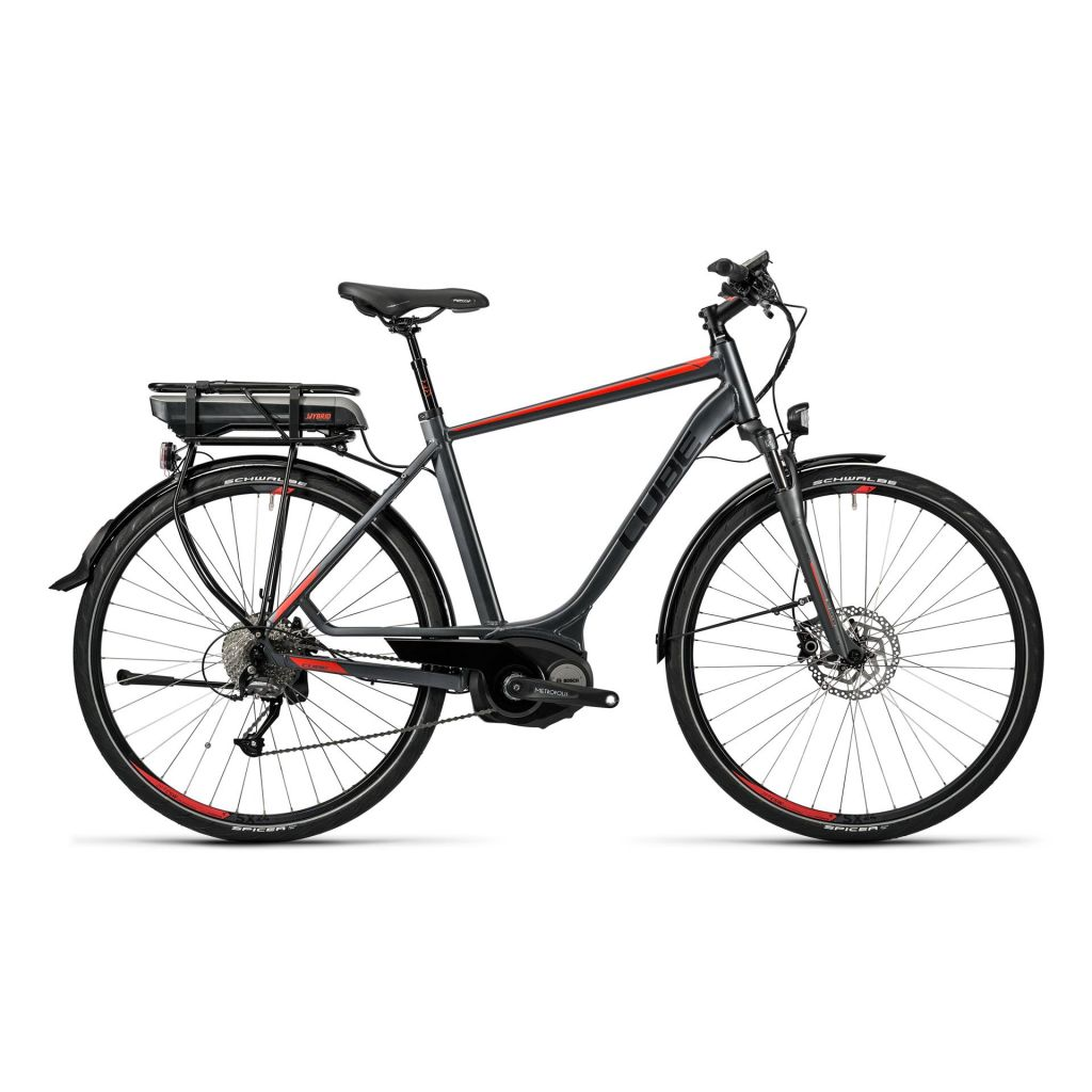 cube touring hybrid 400 e bike herren 28 grey n red. Black Bedroom Furniture Sets. Home Design Ideas