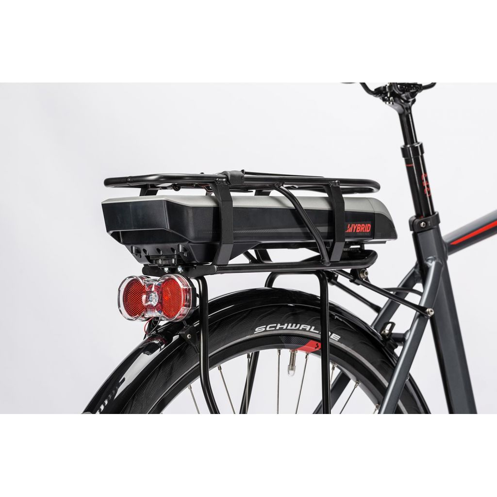 cube touring hybrid 400 e bike herren 28 grey n red. Black Bedroom Furniture Sets. Home Design Ideas