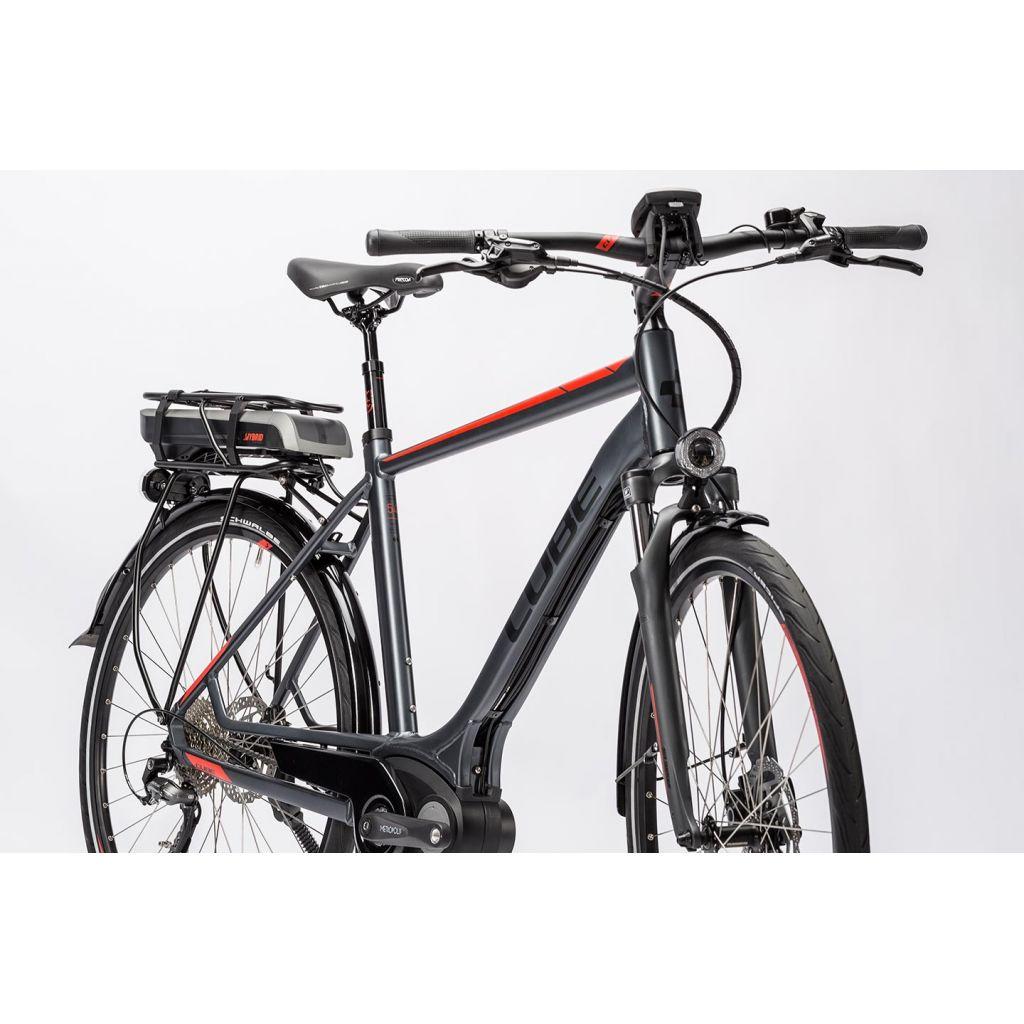 cube touring hybrid 400 e bike wave 28 grey n red. Black Bedroom Furniture Sets. Home Design Ideas