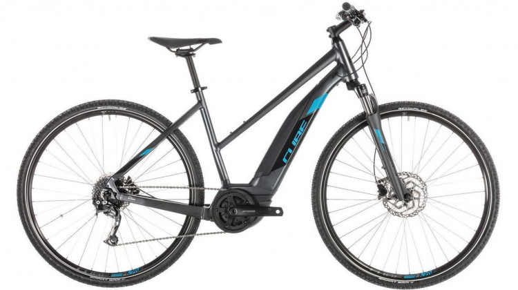 Cube Cross Hybrid ONE 400 E-Bike 28 Trapeze iridium´n´blue 46 cm 2019