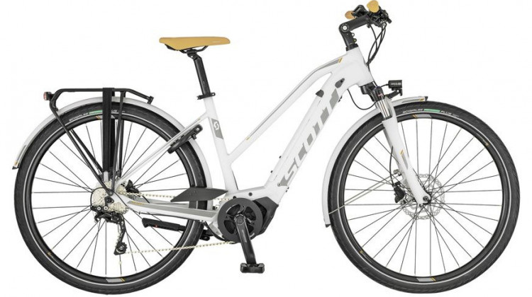 Scott Sub Tour eRide 10 Lady E-Bike 28 Trapez white/silver/bronze S 2019