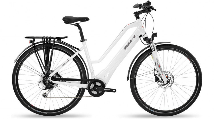 BH Bikes Atom City E-Bike 28 Wave 500Wh weiß grau 2019