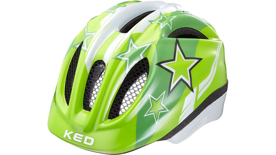 ked meggy green stars kinder helm die fahrrad kette. Black Bedroom Furniture Sets. Home Design Ideas