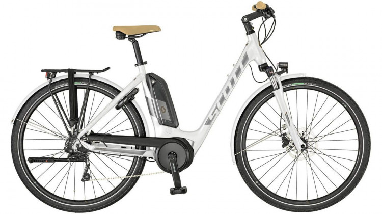 Scott Sub Tour eRide 10 Unisex white E-Bike 28 Wave white/silver/bronze S 2019
