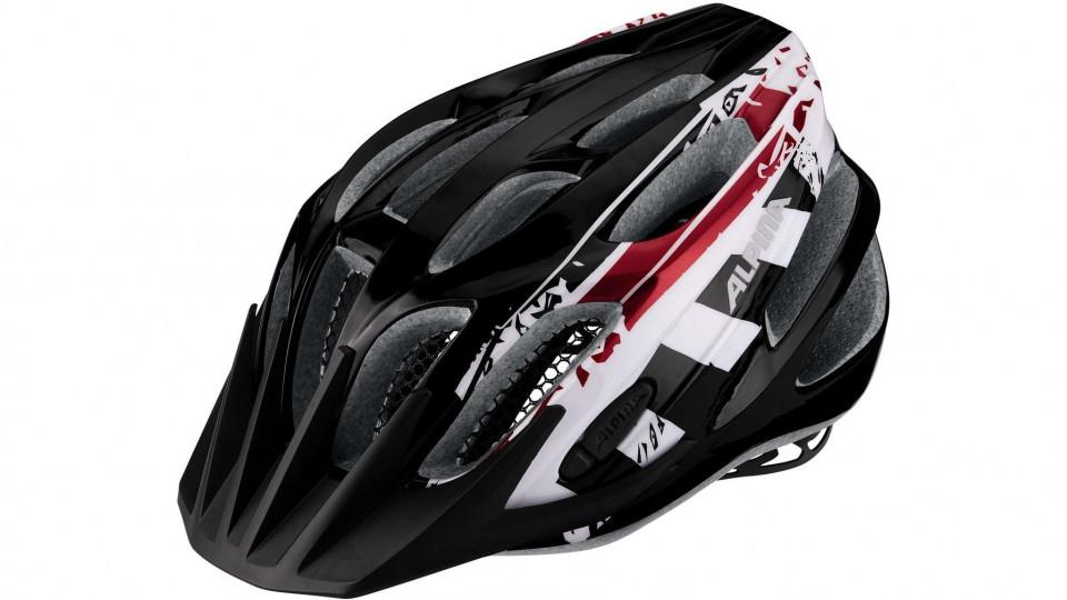alpina fb junior 2 0 kinder helm black white red 50 55 cm. Black Bedroom Furniture Sets. Home Design Ideas