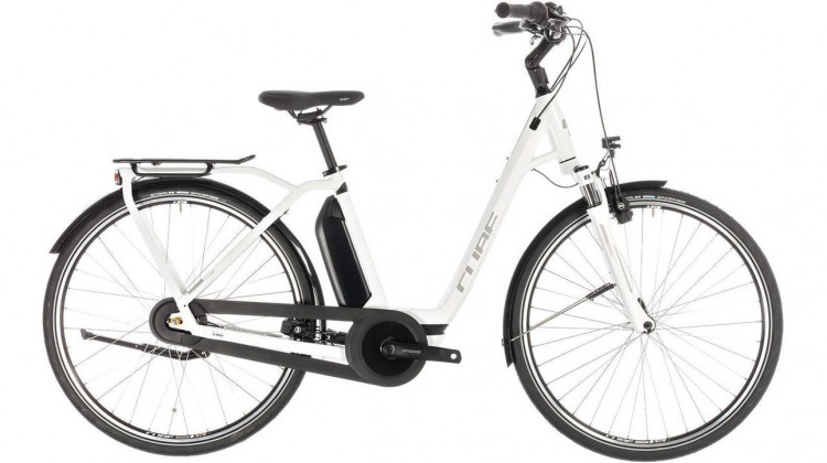 Cube Town Hybrid Pro 500 E-Bike 28 Easy Entry white´n´silver 2019