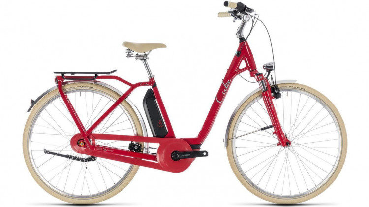 Cube Elly Cruise Hybrid 500 Easy Entry E-Bike 28 red´n´mint 42 cm