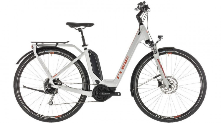 Cube Touring Hybrid 500 E-Bike 28 Easy Entry grey´n´orange 58 cm 2019