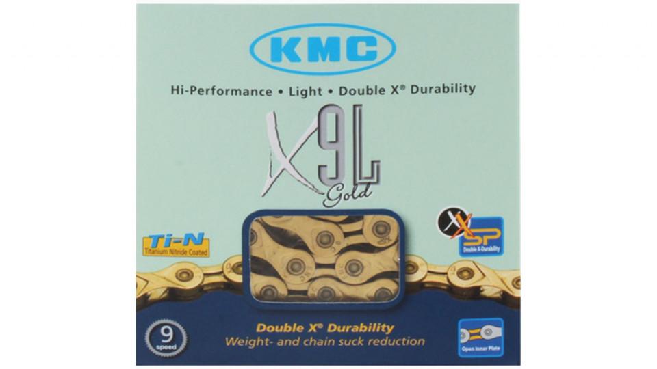kmc x9l light gold kette die fahrrad kette g nstig online kaufen die fahrrad kette. Black Bedroom Furniture Sets. Home Design Ideas