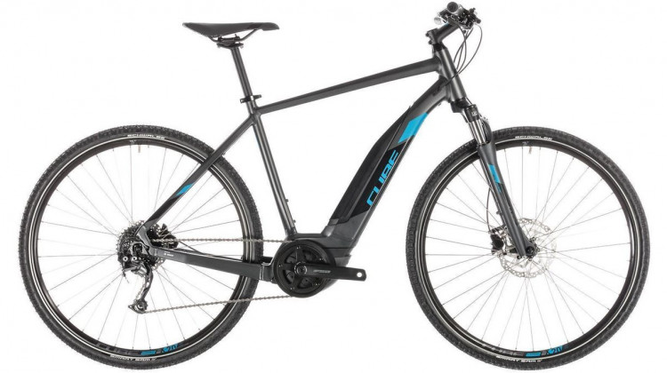 Cube Cross Hybrid ONE 400 E-Bike 28 iridium´n´blue 58 cm 2019