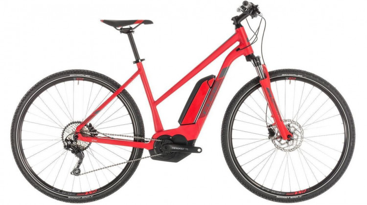 Cube Cross Hybrid Pro 500 E-Bike 28 Trapeze red´n´grey 46 cm 2019